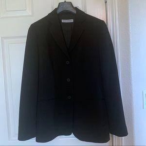 Emporia Armani Black Three Button Black Blazer